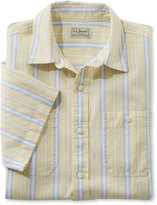 L.L. Bean Linen/Cotton Shirt, Slightly Fitted Short-Sleeve Stripe