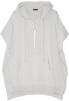 ATM Anthony Thomas Melillo Cotton-blend Hooded Top - Light gray