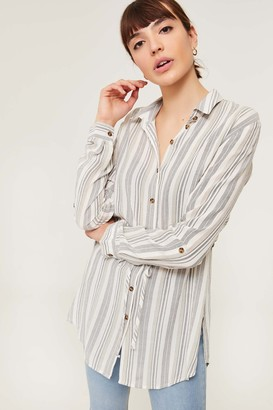 Ardene Striped Tunic Blouse