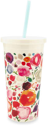 Kate Spade Floral Tumbler With Straw