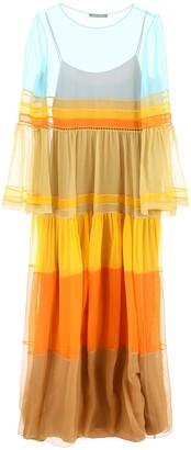 Alberta Ferretti Sheer Panelled Dress