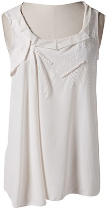 Vanessa Bruno Ecru Silk Top for Women