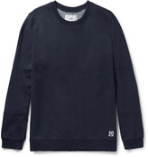 Folk - Elbow-patch Cotton-blend Jersey And Shell Sweatshirt