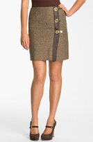 MICHAEL Michael Kors Faux Wrap Tweed Skirt