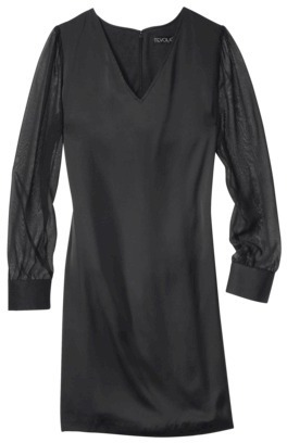 TEVOLIO Women's Shift Dress w/Sheer Sleeve - Assorted Colors