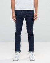 Selected Jeans in Skinny Fit Dark Blue Denim