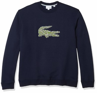 Lacoste Mens Long Sleeve Brushed Molleton Winter Sweater Sweatshirt