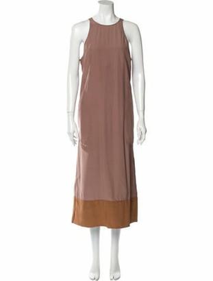 Bottega Veneta Silk Long Dress Purple