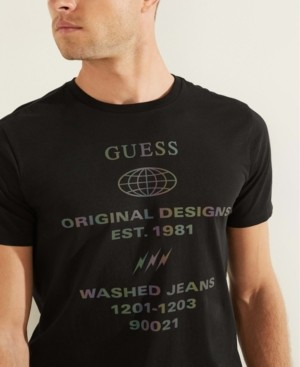 GUESS Men's Reflective Logo Tee
