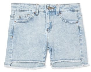 Wonder Nation Girls Distressed Hem Denim Jean Shorts, Sizes 5-18 & Plus