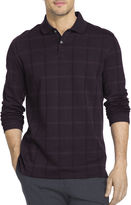 Van Heusen Long Sleeve Solid Cotton Polo Shirt