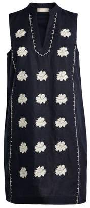 Tory Burch Embroidered V-Neck Dress