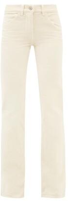 Nili Lotan Celia Cotton-blend Corduroy Wide-leg Trousers - Ivory