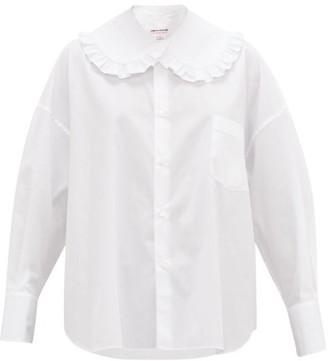 Comme des Garcons Oversized Cotton-poplin Shirt - Womens - White