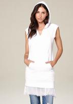 Bebe Chiffon Hem Hooded Dress