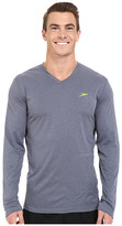 Speedo Heather Long Sleeve V-Neck Swim Tee