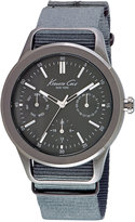 Kenneth Cole New York Men's Gray Nylon Strap Watch 44mm 10027885
