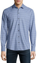 Zachary Prell Plaid Sport Shirt, Light Blue