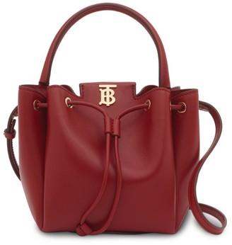 Burberry Leather TB Bucket Bag