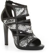 BCBGMAXAZRIA Shyanna Trimmed Exotic High-Heel Sandal
