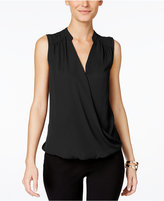INC International Concepts Petite Sleeveless Surplice Top, Only at Macy's