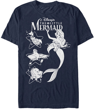 Fifth Sun Men's Tee Shirts NAVY - The Little Mermaid Navy Ariel & Friends Tee - Men
