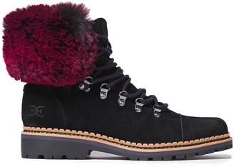 Sam Edelman Bowen Faux Fur-trimmed Suede Ankle Boots