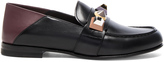 Fendi Stud Leather Loafers