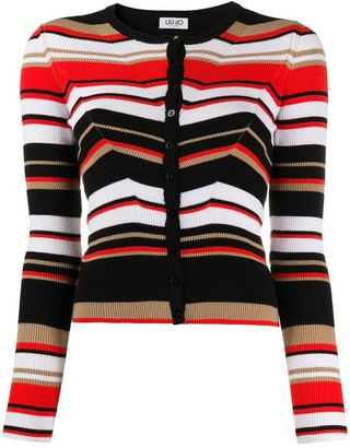 Liu Jo Striped Knit Cardigan