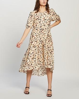 MinkPink Lyra Hi-Low Midi Dress