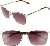 Ted Baker 57mm Gradient Rectangle Sunglasses