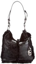 Dolce & Gabbana Rabbit Fur Trimmed Hobo