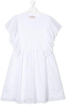 Alberta Ferretti Kids TEEN lace trim dress