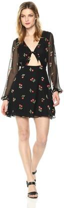 For Love & Lemons Women's Cherry Twist Mini Dress