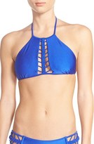 Luli Fama Women's Braided High Neck Bikini Top