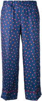 P.A.R.O.S.H. star print wide trousers - women - Silk - S