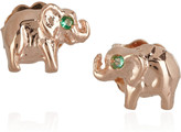 Anita Ko Elephant 14-karat rose gold stud earrings