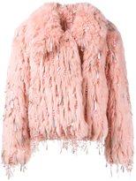 Ashish embellished faux fur jacket