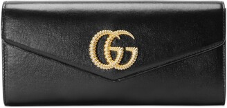 Gucci Broadway leather clutch with Double G