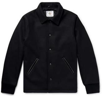GoldenBear Golden Bear Leather-Trimmed Melton Wool-Blend Coach Jacket