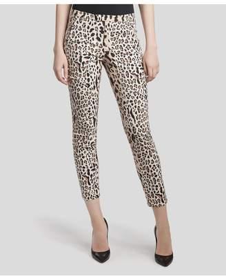 ATM Anthony Thomas Melillo Stretch Cotton Garment Wash Slim Pants - Camel/ Black Leopard