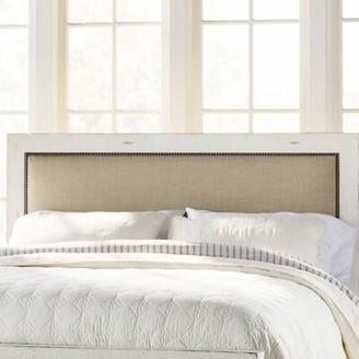 Castagnier Upholstered Panel Headboard Lark Manor Size: King, Color: Distressed White