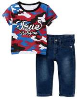 True Religion Snake Tee & Jeans Set (Baby Boys)
