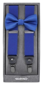 Mio Marino Men's Dashing Suspenders and Bow Tie Set