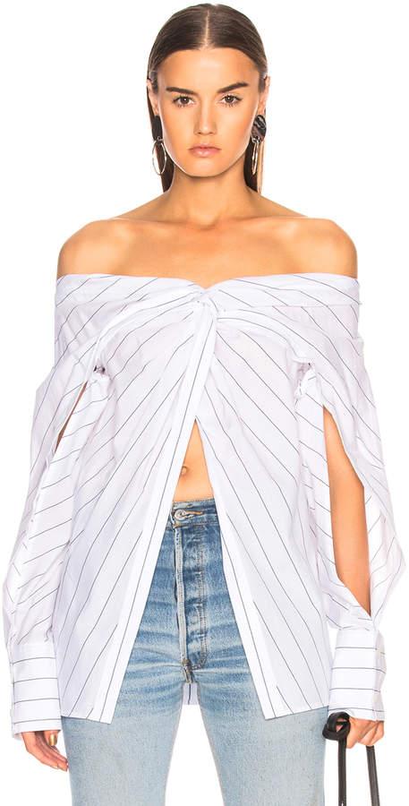 Dion Lee Reversible Twist Yoke Shirt