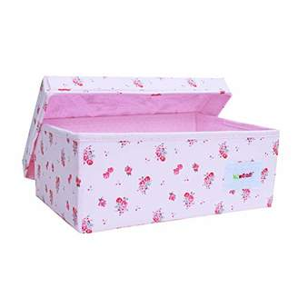Minene Small Storage Organiser Box/Pink Flowers