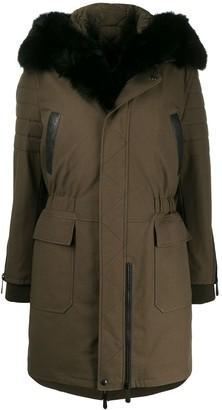 Philipp Plein fur-trimmed hooded coat