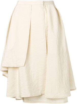 Lemaire Draped Midi Skirt With Layers