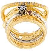 Iosselliani 'Silver Heritage' ring set