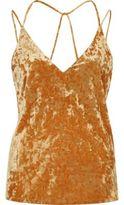 River Island Womens Orange velvet strappy cami top